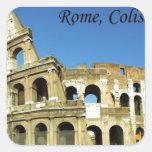 Italy Rome Coliseum (new) (St.K) Square Sticker