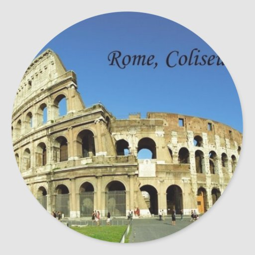 Italy Rome Coliseum (new) (St.K) Classic Round Sticker