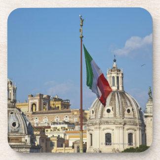 Italy, Rome. Italian flag Drink Coaster
