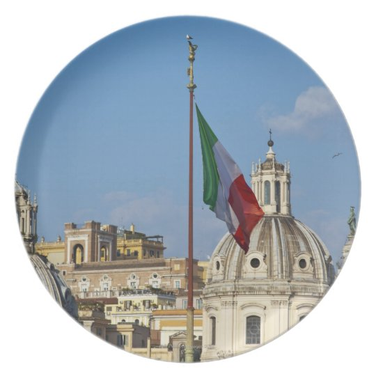 Italy, Rome. Italian flag Melamine Plate