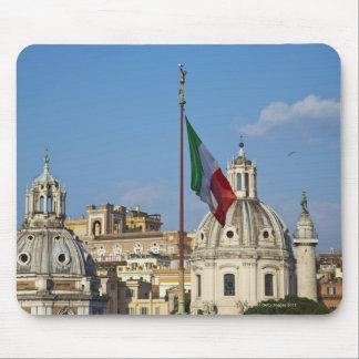 Italy, Rome. Italian flag Mouse Pad