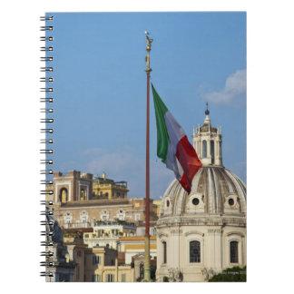 Italy, Rome. Italian flag Notebook