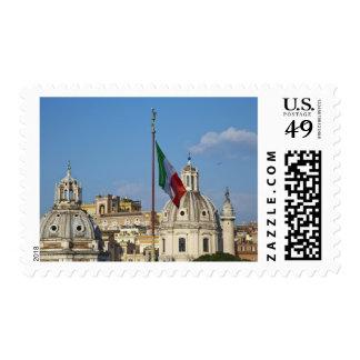 Italy, Rome. Italian flag Postage