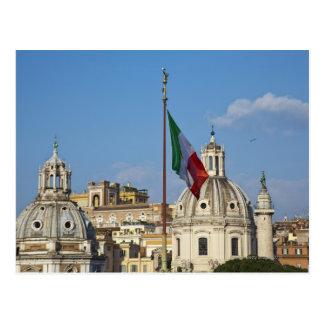 Italy, Rome. Italian flag Postcard