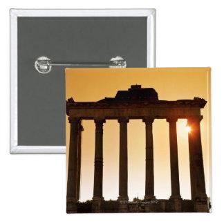 Italy, Rome, Roman Forum, Temple of Saturn 2 Inch Square Button