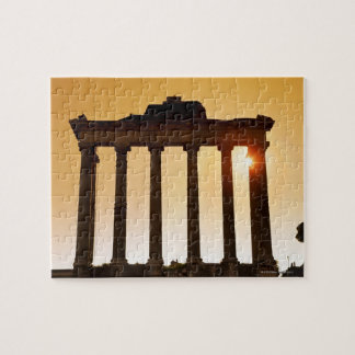 Italy, Rome, Roman Forum, Temple of Saturn Jigsaw Puzzle