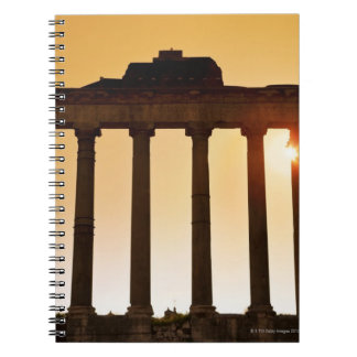 Italy, Rome, Roman Forum, Temple of Saturn Spiral Notebook