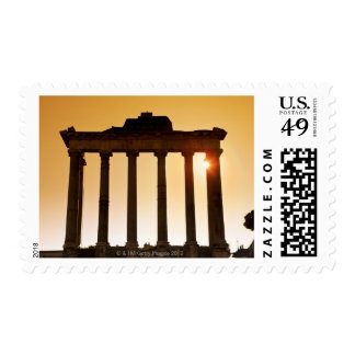 Italy, Rome, Roman Forum, Temple of Saturn Postage Stamps