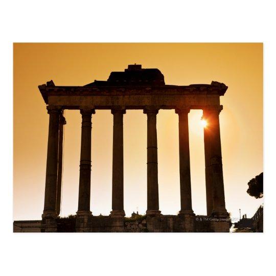 Italy, Rome, Roman Forum, Temple of Saturn Postcard