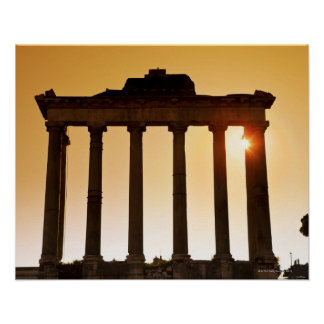 Italy, Rome, Roman Forum, Temple of Saturn Poster
