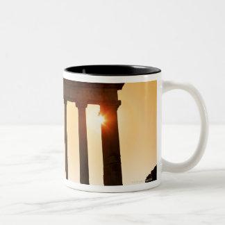 Italy, Rome, Roman Forum, Temple of Saturn Two-Tone Coffee Mug
