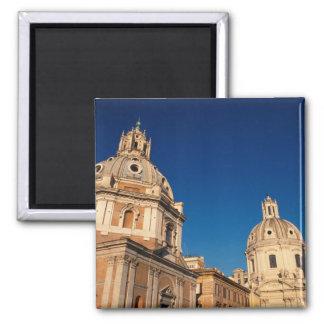 Italy, Rome, Santa Maria di Loreto church and 2 Inch Square Magnet