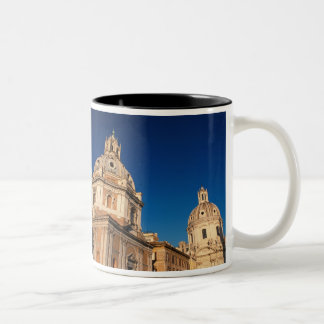 Italy, Rome, Santa Maria di Loreto church and Two-Tone Coffee Mug