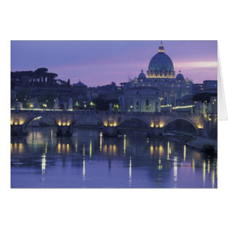 Italy, Rome St. Peter's and Ponte Sant Angelo, Card