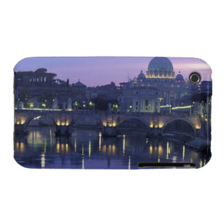 Italy, Rome St. Peter's and Ponte Sant Angelo, Case-Mate iPhone 3 Cases