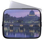 Italy, Rome St. Peter's and Ponte Sant Angelo, Laptop Computer Sleeve