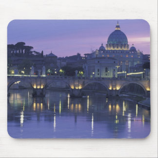 Italy, Rome St. Peter's and Ponte Sant Angelo, Mouse Pad