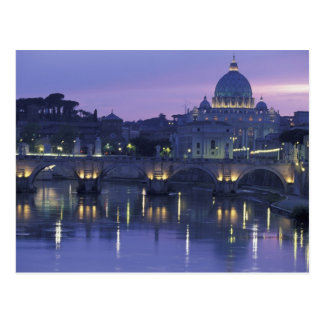 Italy, Rome St. Peter's and Ponte Sant Angelo, Postcard