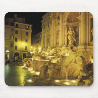 Italy, Rome. Trevi Fountain at night. Mouse Pad