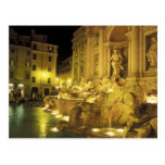Italy, Rome. Trevi Fountain at night. Post Cards