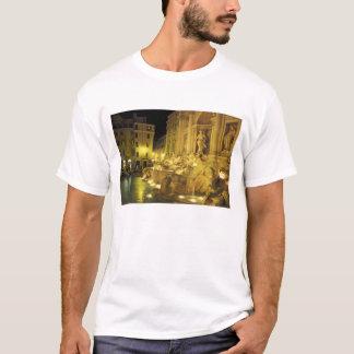 Italy, Rome. Trevi Fountain at night. T-Shirt