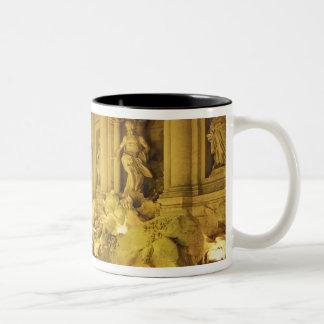 Italy, Rome. Trevi Fountain at night. Two-Tone Coffee Mug