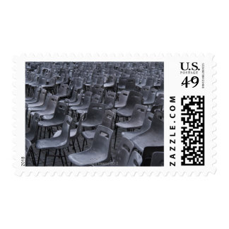 Italy, Rome, Vatican City, Outdoor chairs on Postage