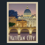 "Italy, Rome - Vatican City Postcard<br><div class=""desc"">Anderson Design Group is an award-winning illustration and design firm in Nashville,  Tennessee. Founder Joel Anderson directs a team of talented artists to create original poster art that looks like classic vintage advertising prints from the 1920s to the 1960s.</div>"