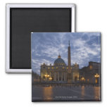 Italy, Rome, Vatican City, St. Peter's Basilica 2 Inch Square Magnet
