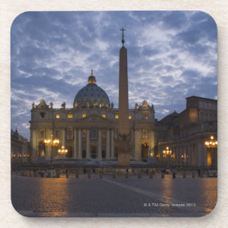 Italy, Rome, Vatican City, St. Peter's Basilica Beverage Coaster