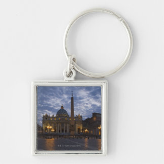 Italy, Rome, Vatican City, St. Peter's Basilica Silver-Colored Square Keychain