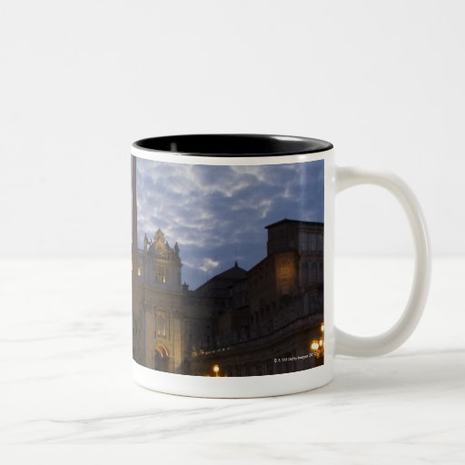 Italy, Rome, Vatican City, St. Peter's Basilica Two-Tone Coffee Mug