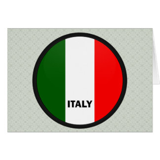 Italy Roundel quality Flag Greeting Card