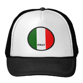 Italy Roundel quality Flag Trucker Hats