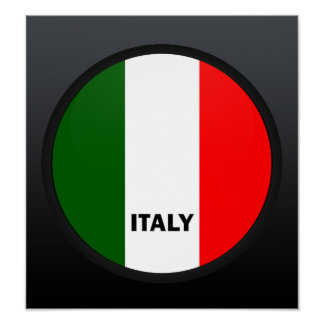 Italy Roundel quality Flag Poster