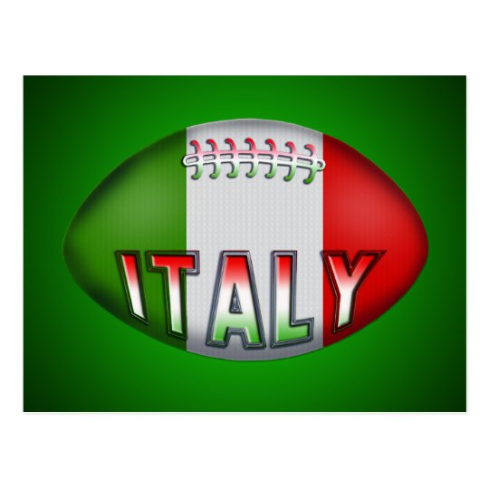 Italy Rugby Ball Postcard