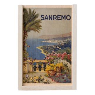 Italy Sanremo wooden keepsake box