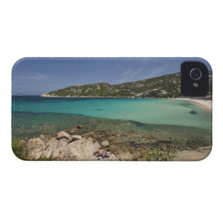 Italy, Sardinia, Baja Sardinia. Resort beach. iPhone 4 Case-Mate Case