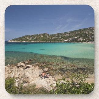 Italy, Sardinia, Baja Sardinia. Resort beach. Drink Coaster