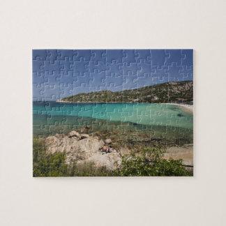Italy, Sardinia, Baja Sardinia. Resort beach. Jigsaw Puzzles