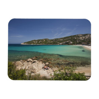 Italy, Sardinia, Baja Sardinia. Resort beach. Rectangular Photo Magnet