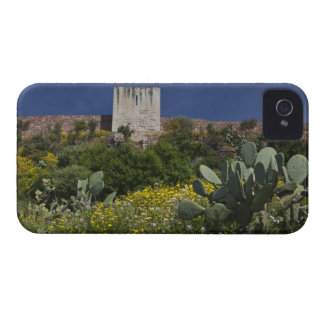 Italy, Sardinia, Bosa. Cacti and Castello 2 iPhone 4 Case