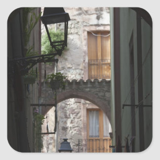 Italy, Sardinia, Bosa. Street detail. Square Sticker