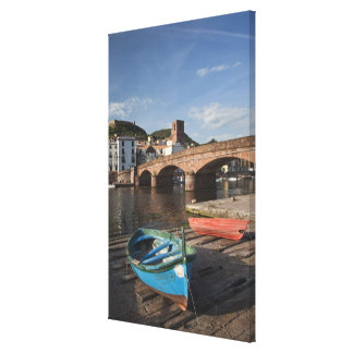 Italy, Sardinia, Bosa. Town view along Temo Stretched Canvas Prints