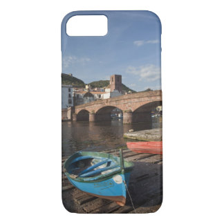 Italy, Sardinia, Bosa. Town view along Temo iPhone 8/7 Case