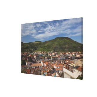 Italy, Sardinia, Bosa. Town view from Castello 2 Canvas Print