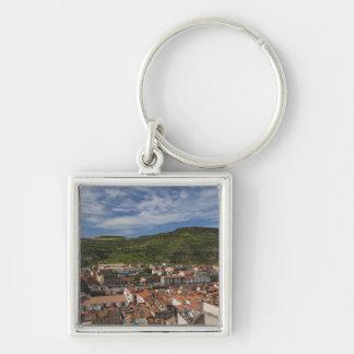 Italy, Sardinia, Bosa. Town view from Castello 2 Keychain