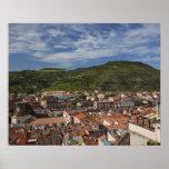 Italy, Sardinia, Bosa. Town view from Castello 2 Poster