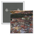Italy, Sardinia, Bosa. Town view from Castello 2 Inch Square Button