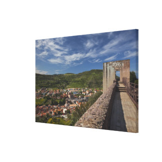 Italy, Sardinia, Bosa. Town view from Castello Canvas Print